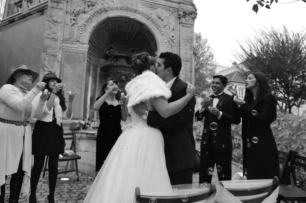 Sortie mariage bulles