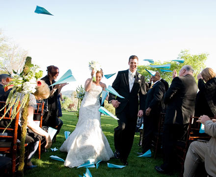 paper planes wedding gran exit