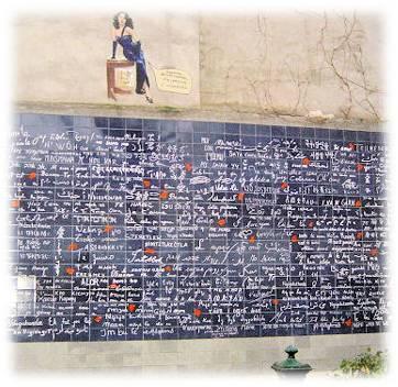 Le mur des « Je t'aime » par Ceremonize wedding planner