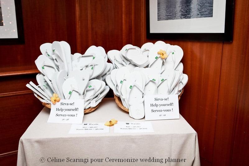 Cadeau invité mariage personnalisé tong