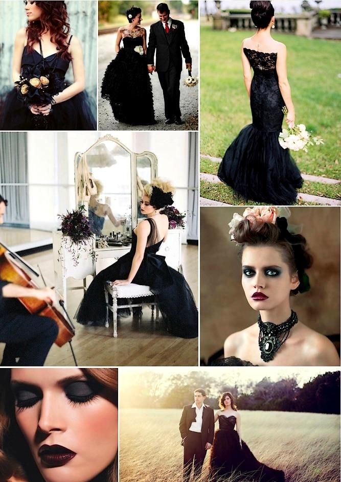 robe noire mariage halloween
