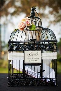 urne mariage cage oiseau