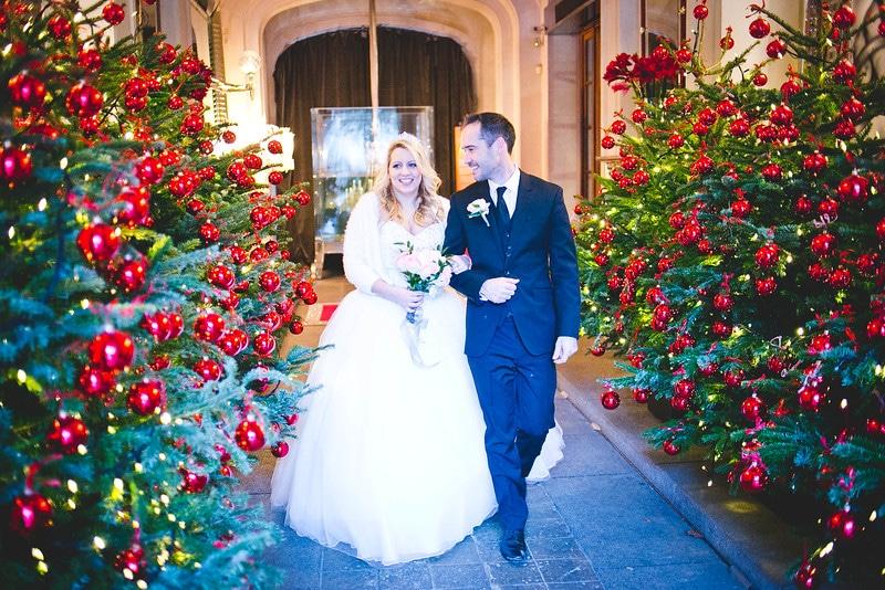 Un mariage en hiver ceremonize for Robes de renouvellement de voeux de mariage taille plus