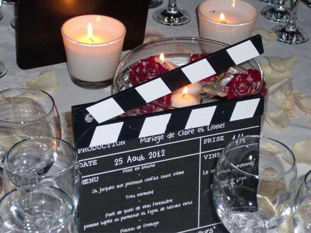 Un mariage sur le thème du cinéma