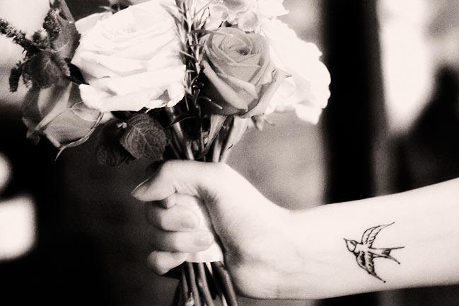 Des mariés tatoués