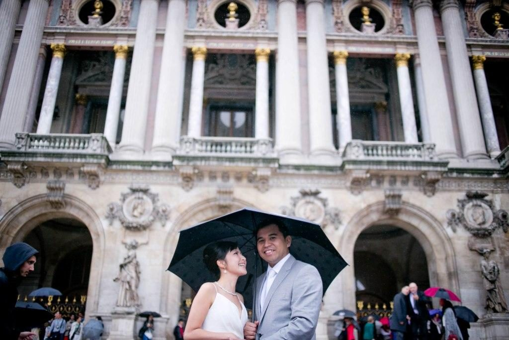 romantic photo wedding paris