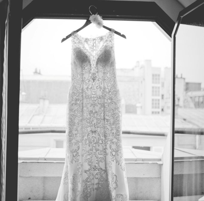 How to take your wedding dress on a plane