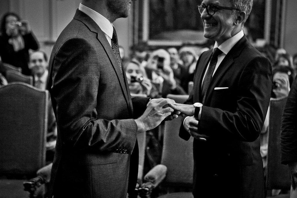 classy gay wedding in paris