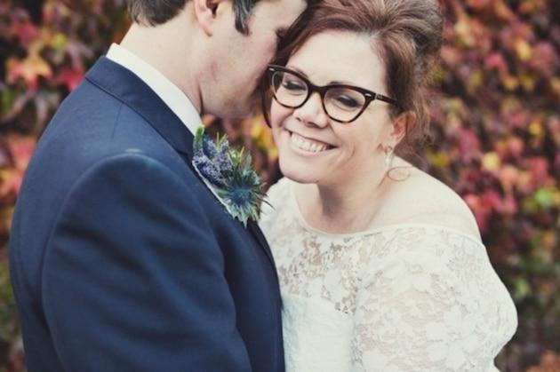 Mariée à lunettes