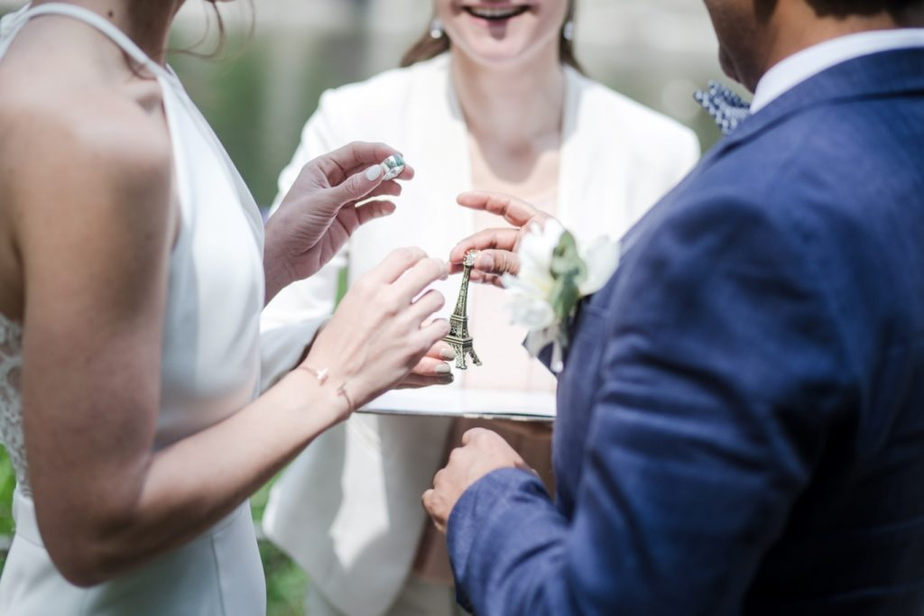 intimate wedding ceremony paris
