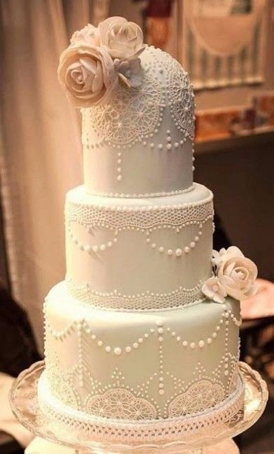 wedding cake années folles