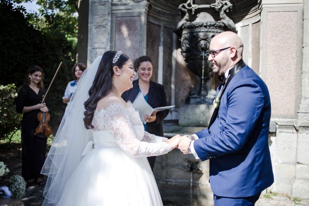 small and intimate wedding paris