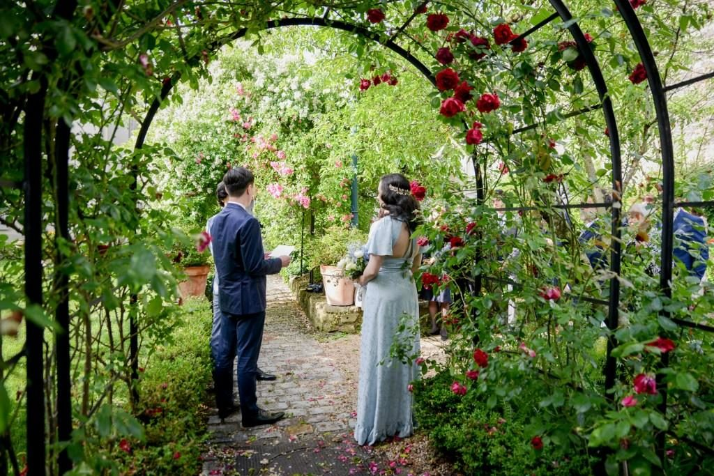 garden wedding ceremony paris
