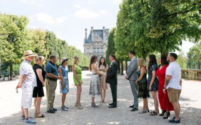 Nadine and Patrick's intimate wedding in Tuileries garden