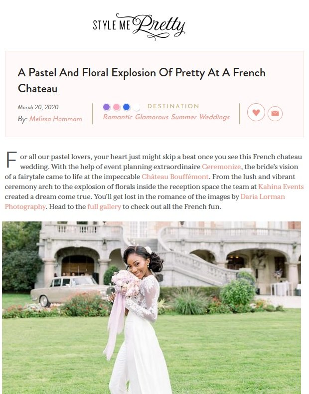 Ceremonize Featured on Style Me Pretty