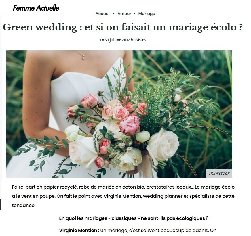 organiser un green wedding