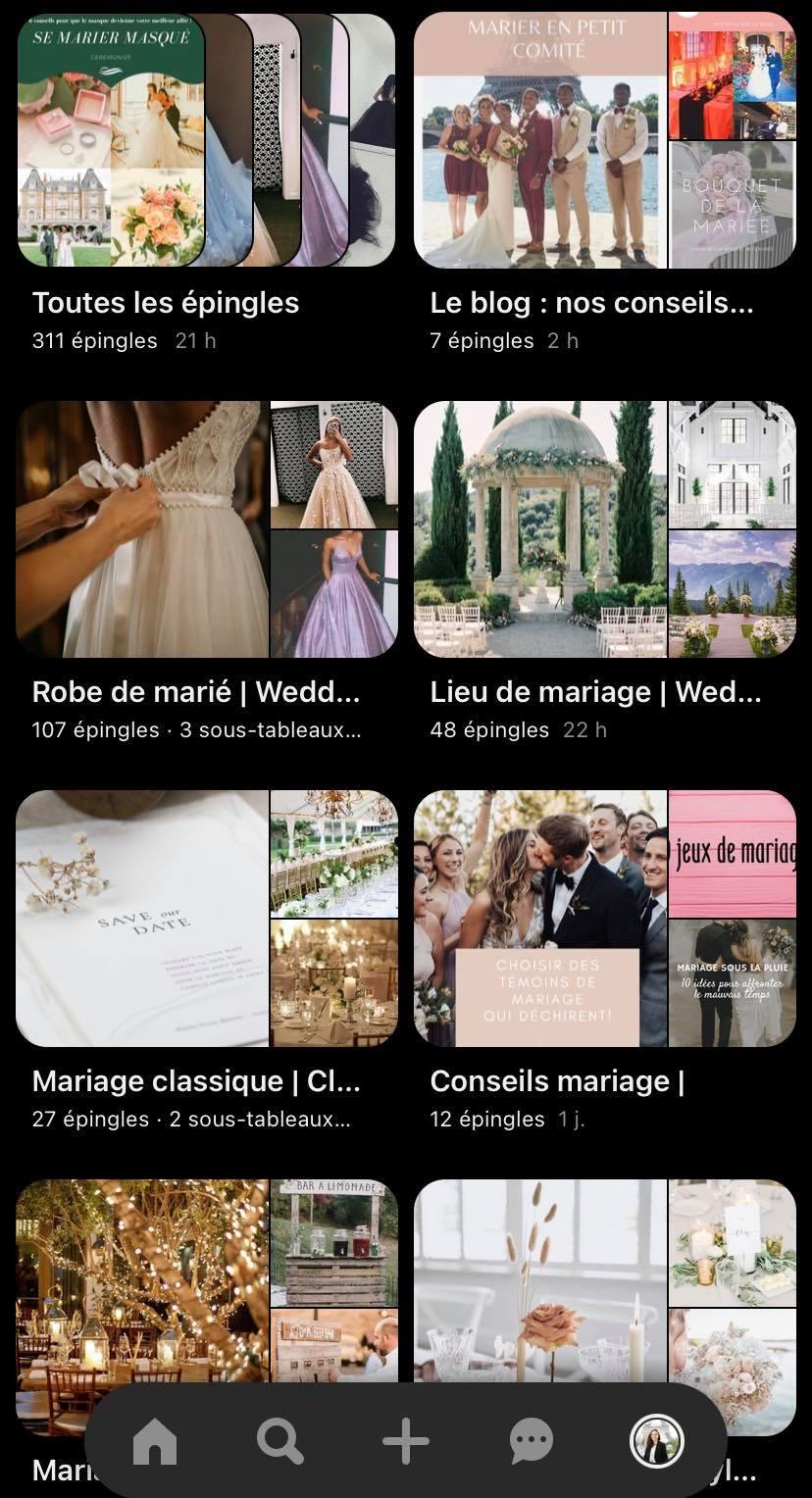 inspiration mariage pinterest
