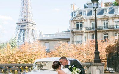 L'elopement de Nicole et Clayton à Paris tous les deux