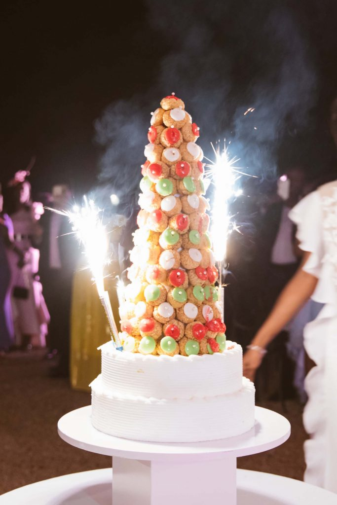 traditionnal french wedding cake croquembouche