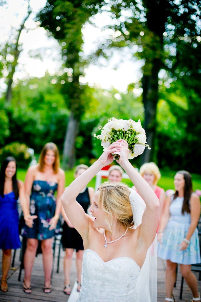 throwing the bouquet wedding tradition